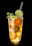 fruit drink with kiwi,orange and mandarin