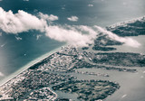 Aerial view of Miami Beach from airplane - 246654704