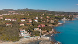 Panoramic view of Castiglioncello as seen from a drone, Italy - 246655543