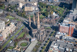 Aerial view of St Patrick Cathedral in Melbourne, Australia - 246656160