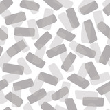 Layers of gray rounded rectangle shapes tilted in various direction to create a texture seamless pattern with depth. Tonal colors. Use as a background for websites, graphic design and paper items. - 246660599