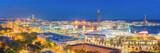 Panoramic View of Barcelona Harbor and Marina at NIght