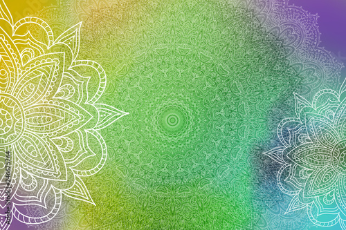 Mandala Grunge Background