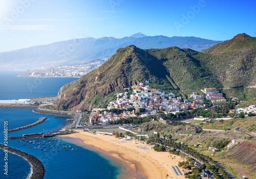 Leinwandbild Motiv View of Las Teresitas Beach