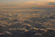 sunset clouds from airplane - 246689734