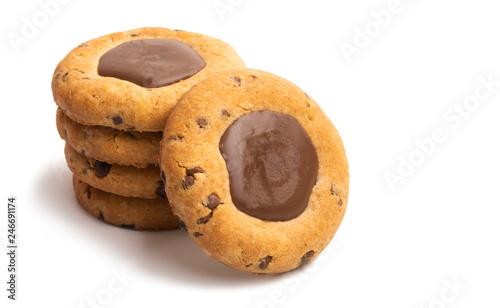 fototapeta na ścianę cookies with chocolate isolated