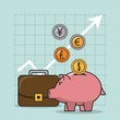finance and trading cartoon - 246696382
