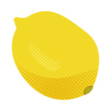 Isolated lime. Halftone style. Vector illustration design
