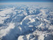 Aerial landscape of the Alps in Europe during winter season with fresh snow. View from the window of the airplane - 246732740