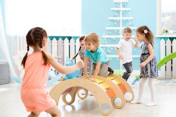 Children playing in kindergarten or daycare centre © Oksana Kuzmina