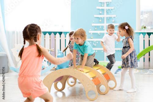Children playing in kindergarten or daycare centre