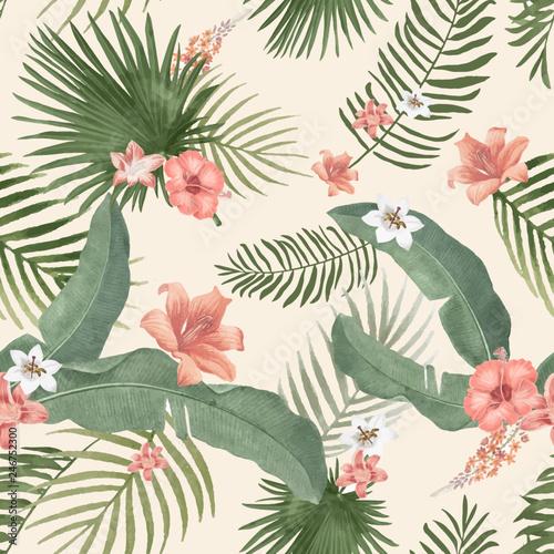 Tropical foliage illustration - 246752300