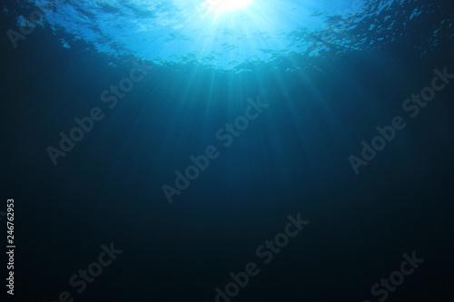 Underwater blue background in sea  - 246762953