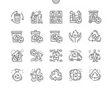 Recycling Well-crafted Pixel Perfect Vector Thin Line Icons 30 2x Grid for Web Graphics and Apps. Simple Minimal Pictogram - 246773545