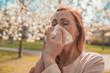 Leinwanddruck Bild - allergie im frühling