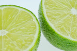 Two fresh lime slices
