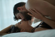 passionate man and woman making love . - 246787506