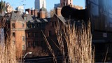 empire state building as seen from high line during autumn slow motion with blue sky - 246797373