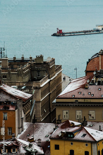Trieste downtown glimpse with snow - 246815700
