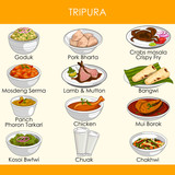 illustration of delicious traditional food of Tripura India - 246823358