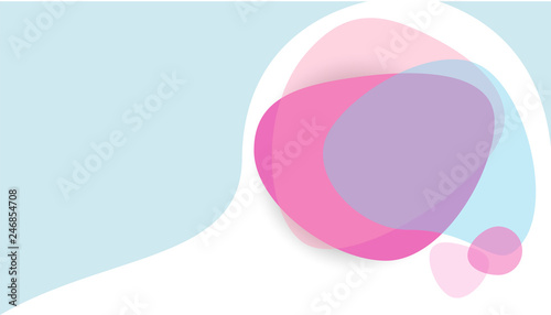 Fluid pastel colors modern vector background. Abstract dynamic organic forms banner.