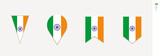 India flag in vertical design, vector illustration