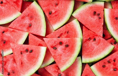 Foto Murales slice of watermelon as textured background