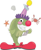 Clown Fish Cartoon Vector Illustration