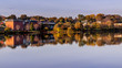 Autumn Colors in CalaIs, Maine USA - photo taken from New Brunswick, Canada side of St Croix river.