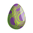 egg painted abstract happy easter