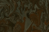 Suminagashi marble texture hand painted with brown - 246923984