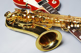 Saxophone and electric guitar