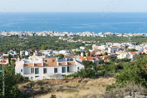 view of a coastal village in Crete - 246943722