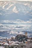Veduta invernale di Olevano Romano - Roma - Lazio - Italia - 246965366