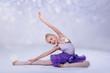 Leinwanddruck Bild - junge Ballerina tanz im Ballettstudio