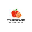 orange apple logo Template vector icon design - 246970983