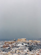 Athens with snow