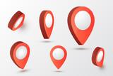 Map pointer vector illustration.  - 246981159