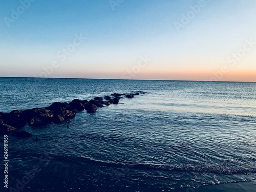 Coucher de soleil à la baie d'Authie © Philippe