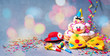 Leinwandbild Motiv Colorful carnival or birthday background