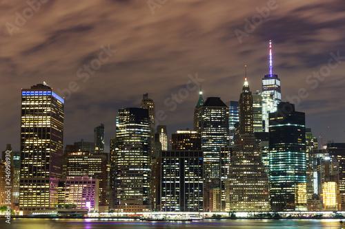 Foto Murales New York skyline at night