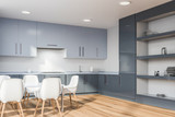 Kitchen corner with cupboard and table - 247006196