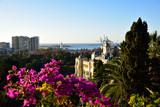 Fototapeta London - Panorama of the city and the port of Malaga in Spain. © konik60