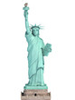 Statue of Liberty in New York City, USA  isolated on white.