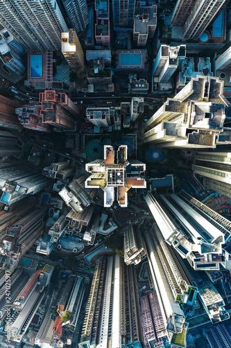 fototapeta na ścianę Hong Kong aerial view of high rise