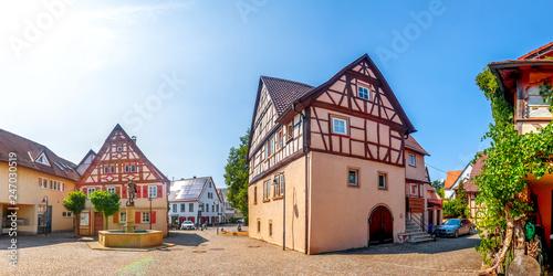 Leinwanddruck Bild Altes Rathaus, Jagsthausen