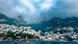 A Panoramic view over Positano town from the ocean, Amalfi coast, Italy. - 247040365