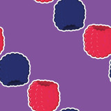 Sweet berry mix pattern of raspberries and blackberries. Berry pattern for paper decoration and healthy eating.