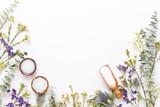 Bio herbal green cosmetic arrangement, sea salt and handmade cosmetic. - 247048127