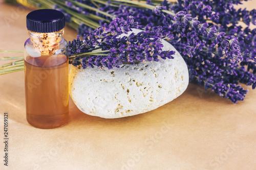 Lavender essential oil. - 247059321